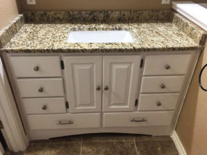 Bathroom counter with sink